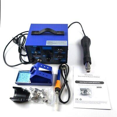 2in1 862d Digital Display Smd Soldering Iron Hot Air Rework Station Hot Air Gun