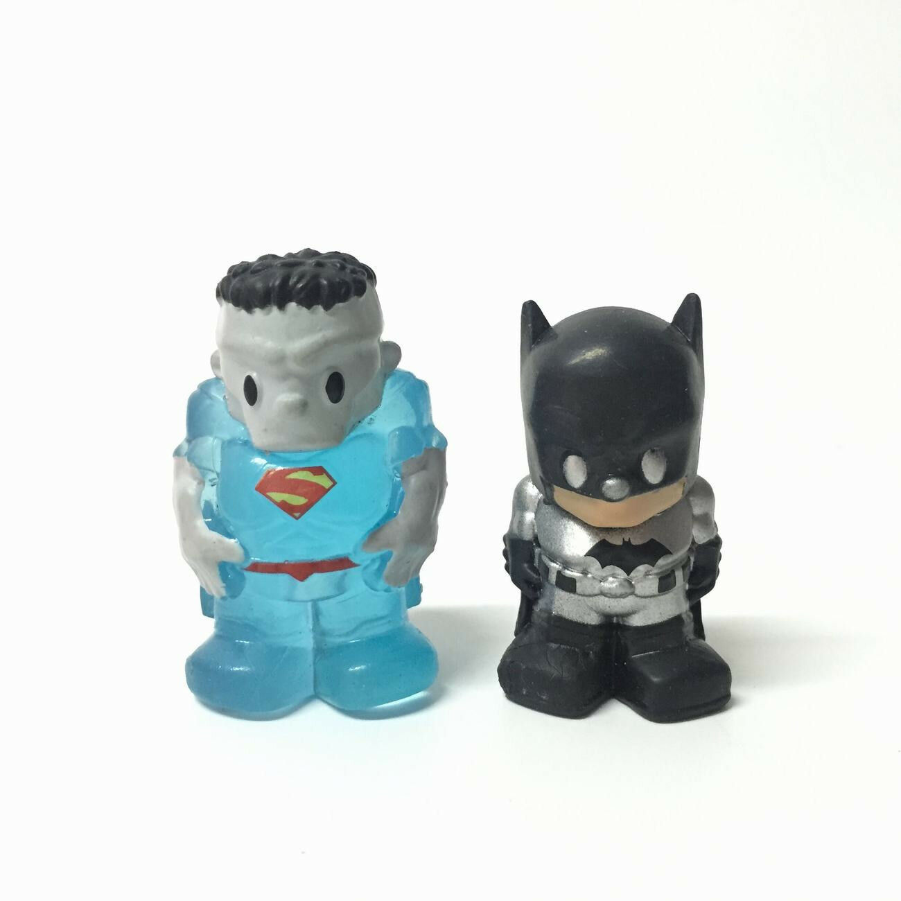 LOT 5X OOSHIES DC Titanium sliver CYBORG batman Pencil Topper Limited Figure toy