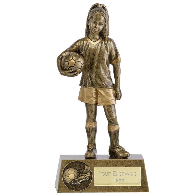 Phoenix Youth femelle Football Trophée Girl Player Award Gravure Gratuite A1792A B13