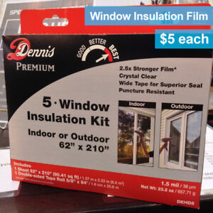 Brand New Window Insulation FIlm