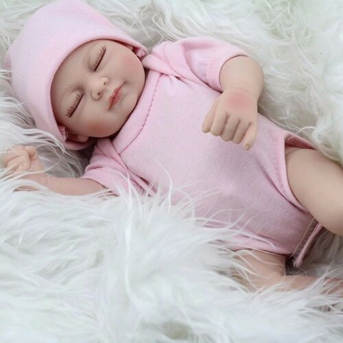 "US 11"" Handmade Newborn Baby Girl Vinyl Soft Silicone Realistic Reborn Doll Real"
