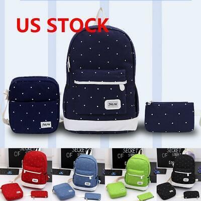 3Pcs/SET Women bag Backpack Girl School Shoulder Bag Rucksac
