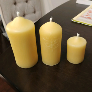 Homemade beeswax candles - $50