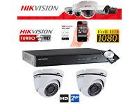 Hikvision Full HD 1080p CCTV Security Camera Kit - 2mp Cameras, Turbo DVR, Hard Drive, Cables