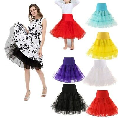Plus Size Tutu Skirt (Girl Women Plus-size Tutu Skirt 50s Retro Swing Fance Dress Petticoat)