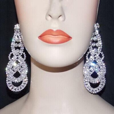 Silver Chandelier Crystal Rhinestone 3.75