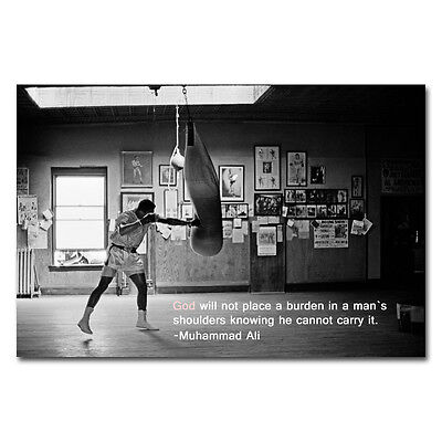 Muhammad Ali Quotes Motivational Boxing Art Silk Poster 12X18 24X36 Inch