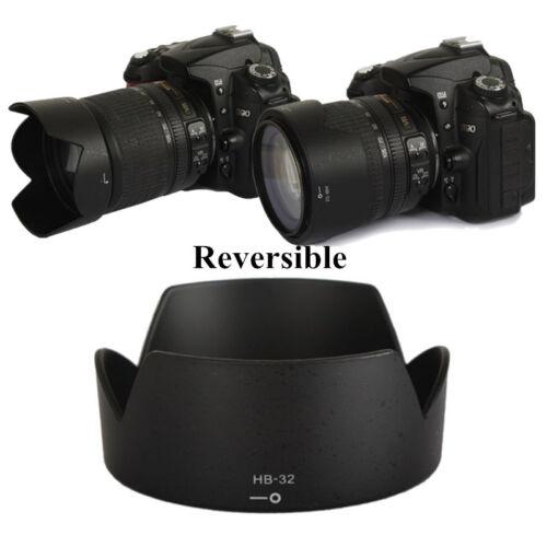 HOT HB-32 Camera Lens Hood Reversible Bayonet For Nikon AF-S 18-70 18-105 18-135