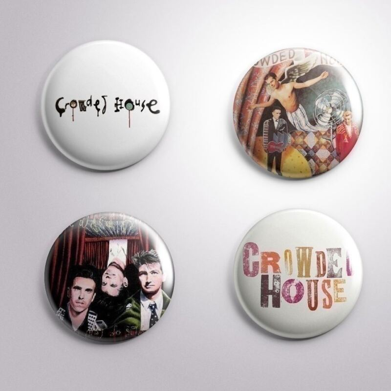 4 CROWED HOUSE -  Pinbacks Badge Button 25mm 1