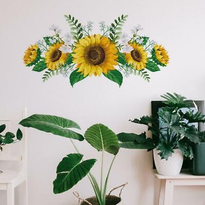 Home Decoration - Fashionable Removable Sunflower Wall Sticker Flower Decor Waterproof Decals