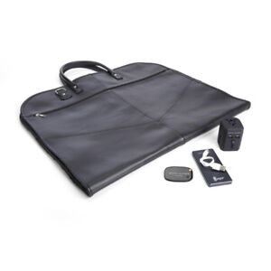 ROYCE LEATHER LUXURY TRAVEL GARMENT BAG TRAVEL SET