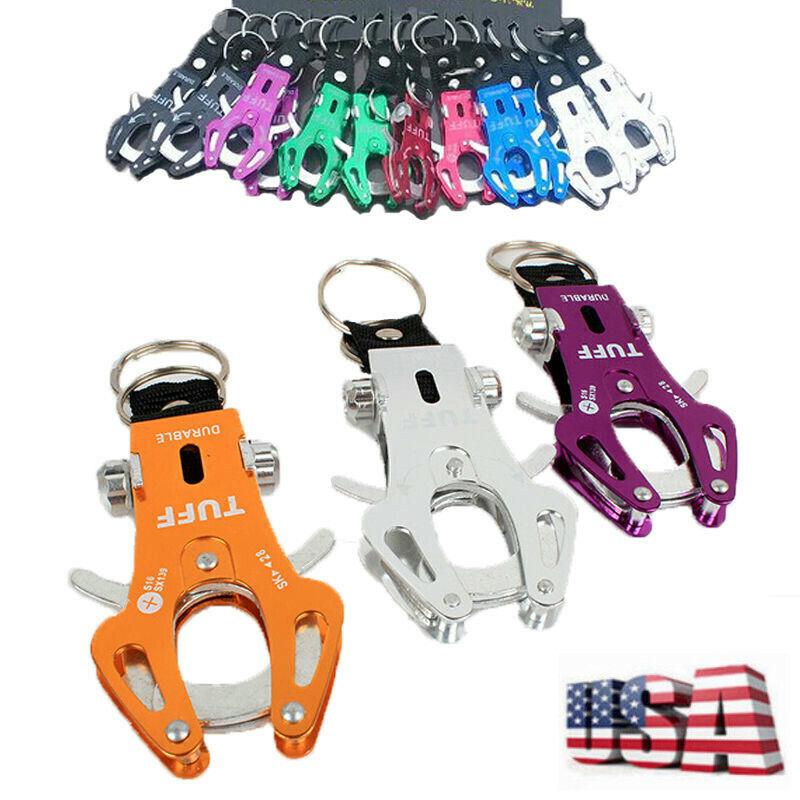 Tiger Hook Lock Keyring Carabiner Clip Climbing Camping Tool