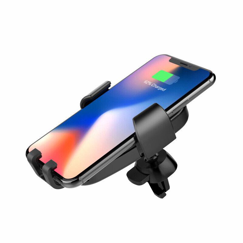 Havit H341 Nero - Supporto 2 in 1 Porta Smartphone Wireless Charger da Auto