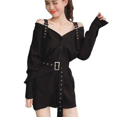 Kawaii Clothing Dress Off Shoulder Straps Ulzzang Harajuku - Sexy Japanische Kleid