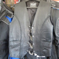 Mens Leather Motorcycle Vest w Extenders $50 Re-Gear Oshawa