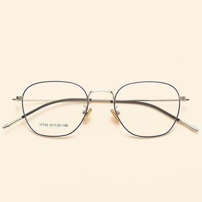 RETRO GLASSES FRAMES OPTICAL PRESCRIPTION EYEWEAR CLEAR LENS SQUARE METAL (Korean Glasses Frames)