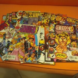 70 marvel DC comic books . Avengers Gen x