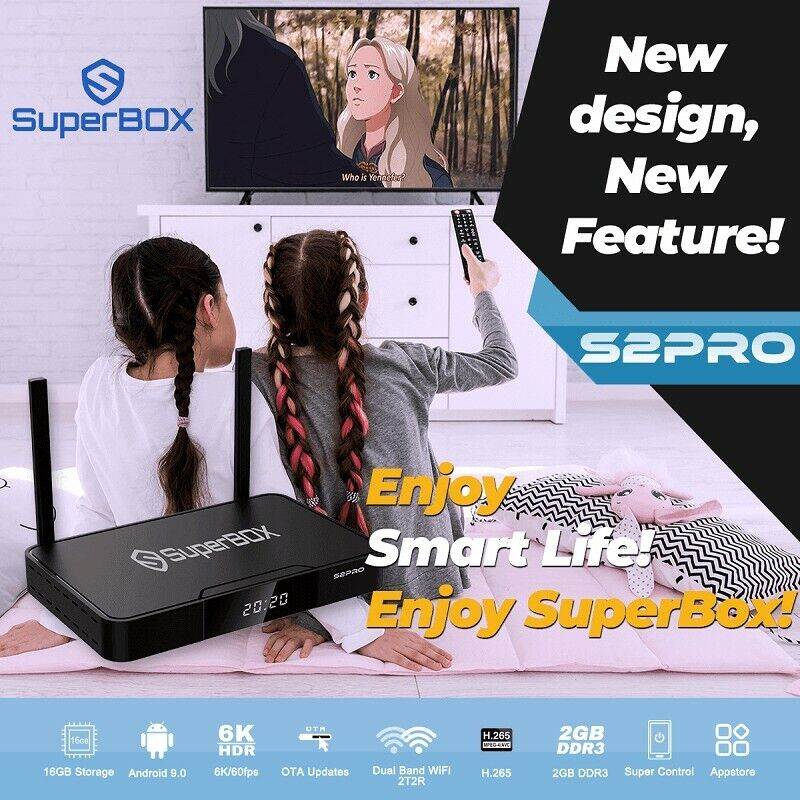 NEW SUPERBOX S2 PRO 6K CERTIFIED SELLER. ORIGINAL. SAME DAY SHIPPING