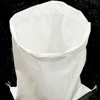 50 LARGE WOVEN POLYPROPYLENE SACKS BUILDERS RUBBLE SAND BAG 22 x 30
