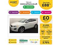 WHITE VOLVO XC60 2.4 D4 AWD R DESIGN LUX  2.0 SE 2WD G/T FROM £88 PER WEEK!