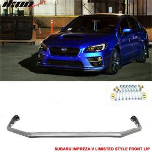 15-17 Subaru WRX STI Front Bumper Lip Spoiler STI Style