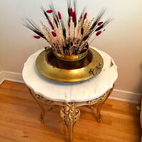 URGENT:2 Stunning Antique Marble Top Tables $255/each - $480/set