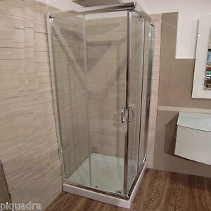 Box doccia in cristallo 6 mm cabina scorrevole vetro trasparente piatto 70x90 ebay - Cabina doccia senza piatto ...