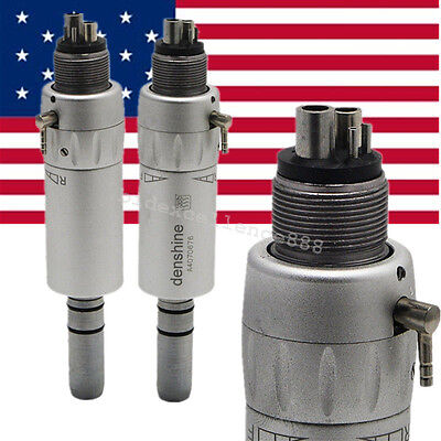 Dental Low Speed E-type Air Motor Micromotor 4 Hole Contra Angle Handpiece Usa