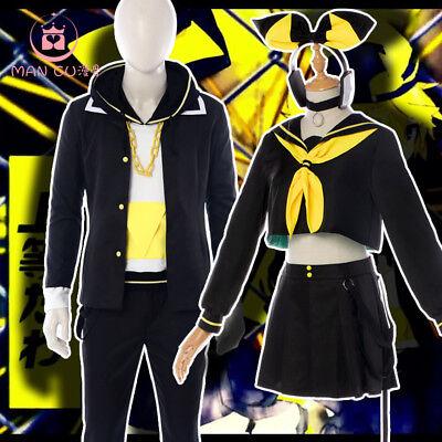 Vocaloid Kagamine Rin Len Format Cosplay Costume Black Halloween FullSuit - Kagamine Rin Halloween