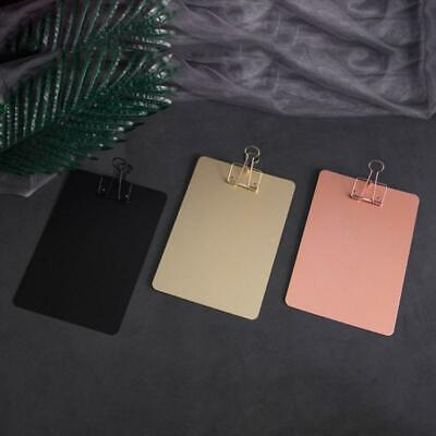Metal Clipboard Writing Pad File Folders Document Holder Stationery School Gifts