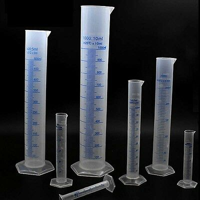 Plastic Measuring Cylinder Trial Liquid Tube Laboratory Graduated Jar Testtoolh