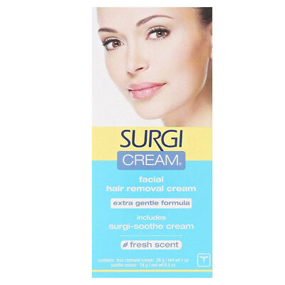 SURGI-CREAM Hair Remover For Face, Extra Gentle Formula 1 oz
