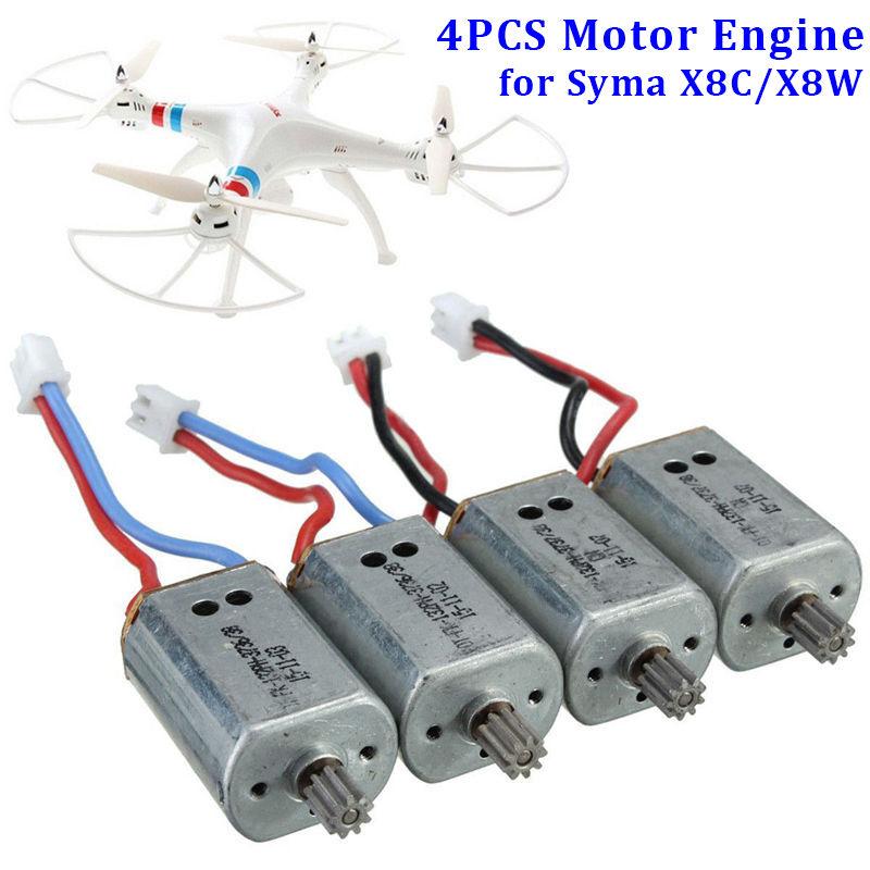 4PCS CW & CCW Main Motor Engine Spare Parts for Syma X8C X8W RC Quadcopter Drone