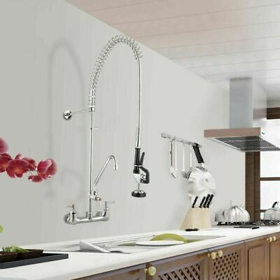 Commercial Pre-rinse Faucet W 12 Add-on Faucet Dishwasher Cupc Nsf