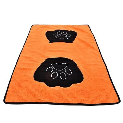 2PCS/LOT Pet Cat Dog Wash Blanket Ultra-absorbent Bath Gloves Towel Microfiber