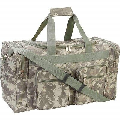"""21"""" Heavy Duty CAMO Tote Bag Water Resistant Gym Duffle Hunting Shoulder Gear"""