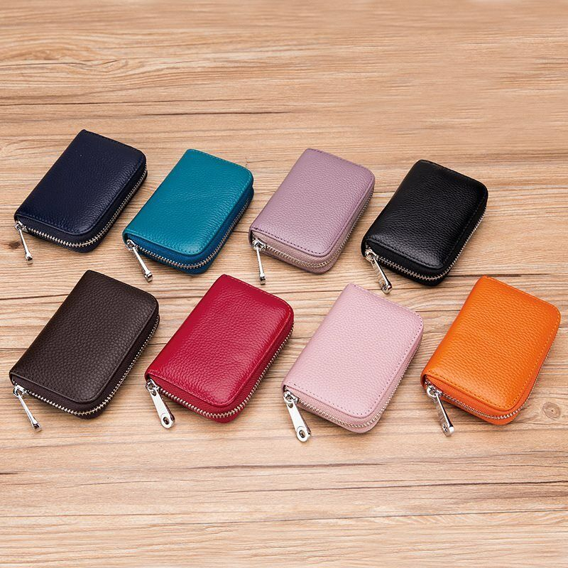 Men Women Leather 16 Credit Card Holder RFID-Blocking Zipper Pocket Wallet US Clothing, Shoes & Accessories
