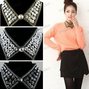 Fashion-Jewelry-Black-Collar-Black-Crystal-Charm-Elegant-Necklace-Gorgeous-Chain