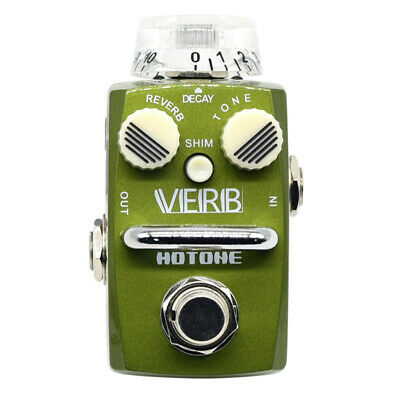 The Hotone VERB Digital Reverb Pedal Creating Warm Echo Tones SRV-1