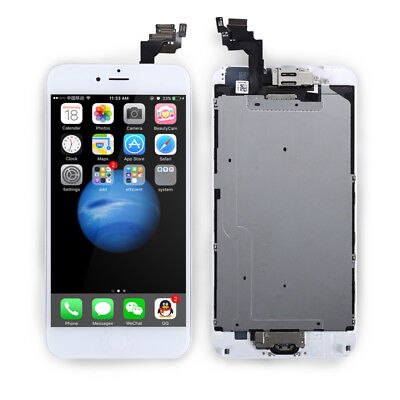 Milk-white For iPhone 6 Plus Complete Touch Screen Replacement LCD Digitizer + Button