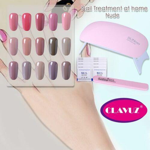 6PCS Nude Colors Gel Nail Polish Starter Kit UV LED Lamp Top