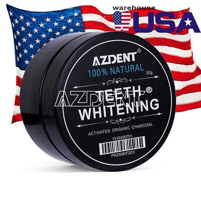 Whitening Powder Organic Activated Charcoal Bamboo Natural Teeth Whitener AZDENT