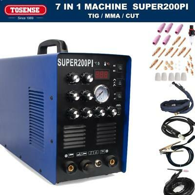50a Plasma Cutter 200a Acdc Pulse Tigmma Aluminium Welder Machine 7in1