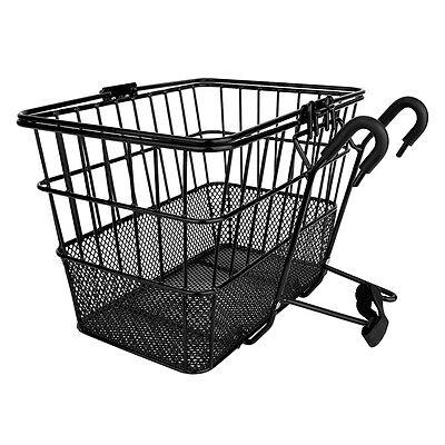 Sunlite LiftOff Bicycle Basket w/Mesh Bottom-13.5 x 9.87 X 9.5 inches-Black