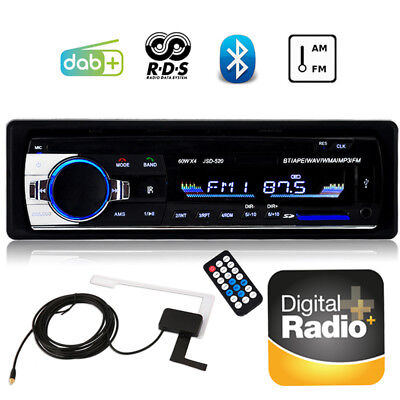 ​1 DIN DAB+ Autoradio FM AM AUX-in RDS Car Stereo Bluetooth MP3 Handsfree Player