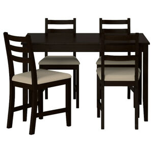 "IKEA ""LERHAMN"" Dining Set + Extra Chairs"