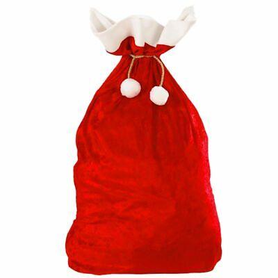 Large Christmas Bags (Christmas Gift Red Pouch Bag Large Capacity Fleece Fabric Xmas Drawstring)