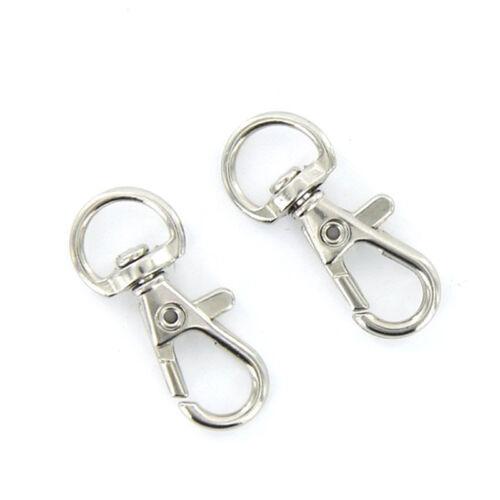 10pcs Mini Split Keychain Key Ring Clips Snap Hook Carabiner