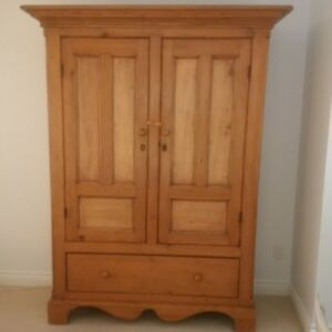 Lovely Quebec pine armoire, great value!