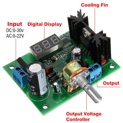 Lm317 Adjustable Voltage Regulator Step-down Power Supply Module Led Display